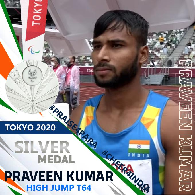 Praveen Kumar Jumps High To Win Silver, India  Gets 11th Medal In Paralympics 2020