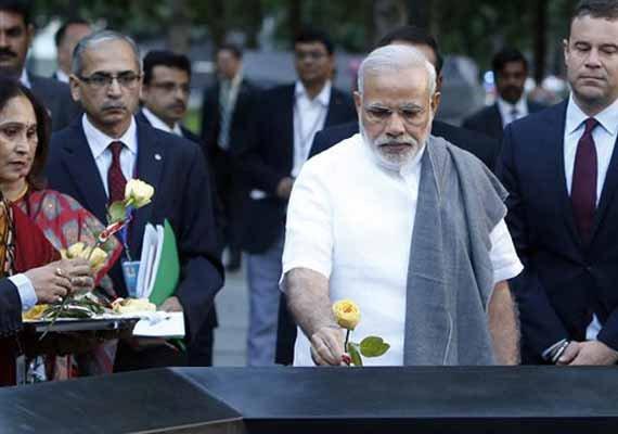 India pays tribute at New York September 11 Memorial