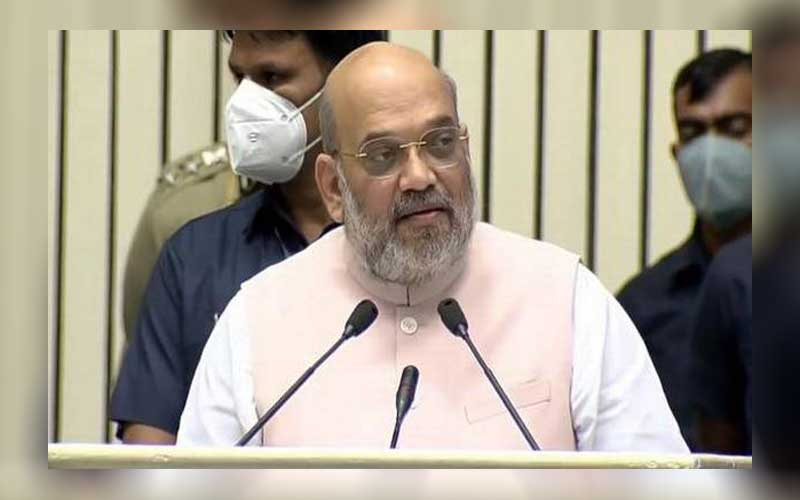Union Minister Amit Shah addresses the 18th Investiture Ceremony of BSF India