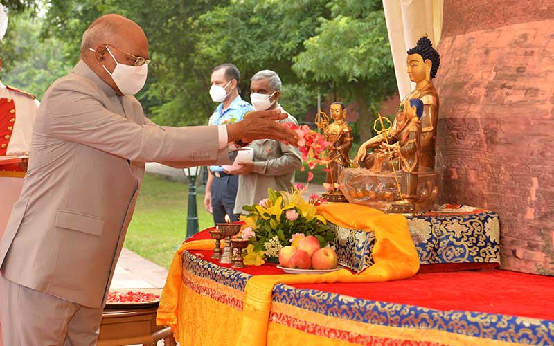 President of India Addresses Annual Asadha Poornima – Dharma Chakra Day being organised by The International Buddhist Confederation