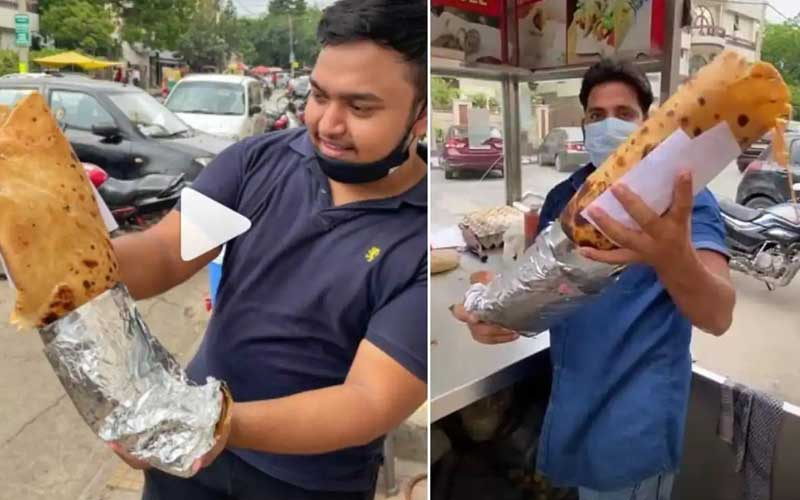 Win Rs. 20,000 by finishing this gigantic 10kg Kathi Roll with 30 eggs in Delhi
