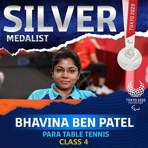 On Super Sunday Bhavina Patel Wins Silver, Becomes First Indian To Win A Medal In Table Tennis Event of The Paralympic Games