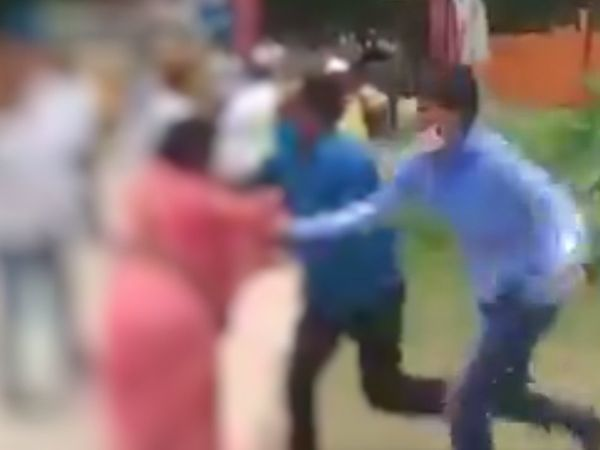 New lows in UP: Samajwadi Party's woman worker attacked by rival party men during nomination