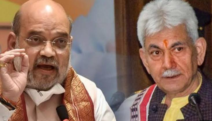Amit Shah and  Governor of Jammu and Kashmir, meets in Delhi today