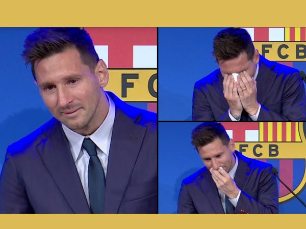 Emotional Messi In Tears As He Bid Farewell to FC Barcelona