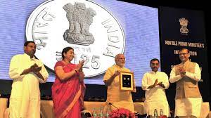 Breaking- PM Modi releases special commemorative coin of Rs 125 Coin on ISKCON founder's 125th birth anniversary today