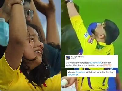 Watch Video - MS Dhoni gifts signed ball to a young supporter after taking Chennai Super Kings into final