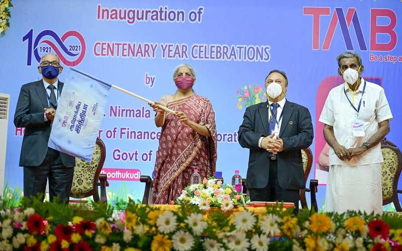 Honourable Union Finance Minister Nirmala Sitharaman Inaugurates Tamilnad Mercantile Bank (TMB)'s Centenary Celebrations in Thootukudi