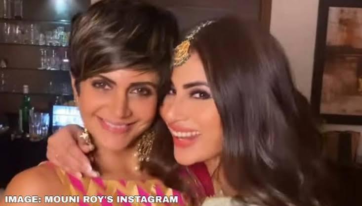 Mandira Bedi sends message of love to Mouni Roy