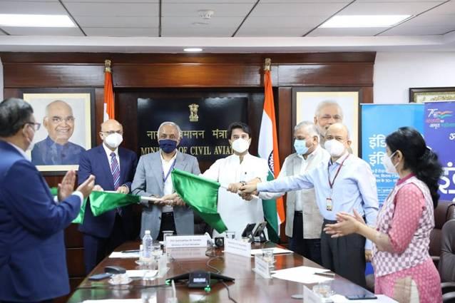 Civil Aviation Minister Jyotiraditya Scindia Inaugurates First Direct Gwalior- Indore Flight, Indore –Dubai Flight Resume
