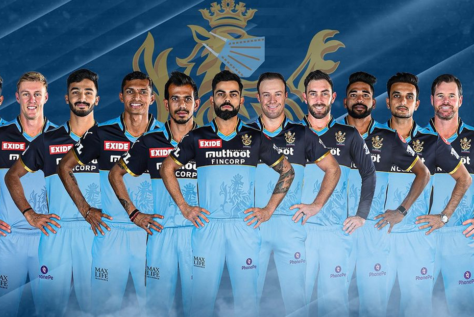 IPL 2021- On 20th September RCB to wear blue jersey against KKR  to honor frontline workers