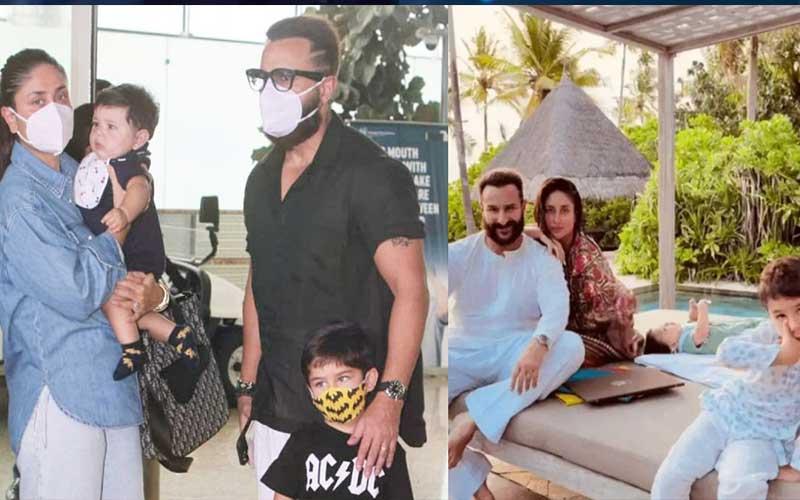 Saif Ali Khan heads for a vacation with Kareena Kapoor, Taimur and jeh
