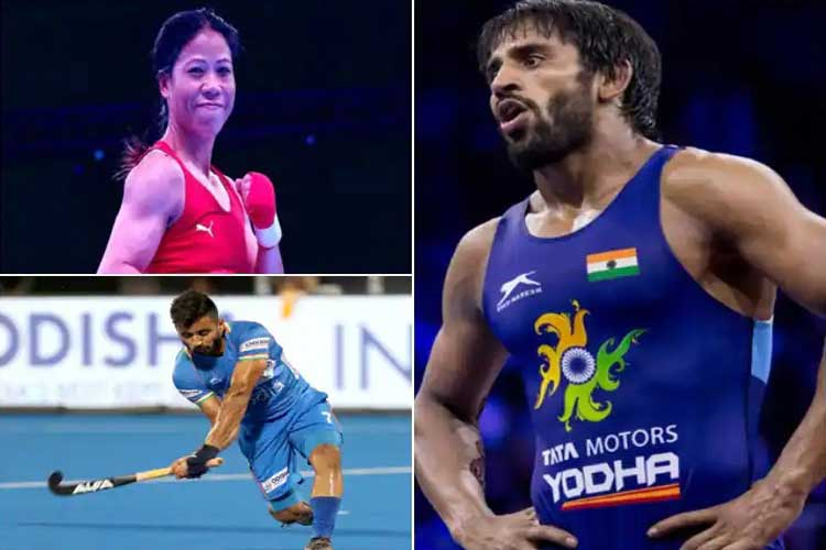 Mary Kom, Manpreet Singh and Bajrang Punia confirmed as Indian flagbearers for Tokyo Olympics