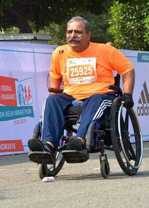 Border Security Force Officer Battles Spinal Cord Injury To Maintain Good Health And Support A Cause For Children