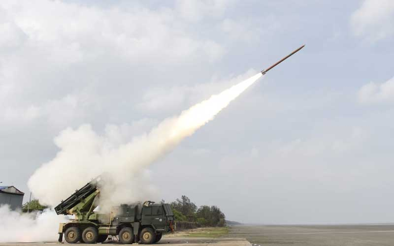 India successfully test-fired Pinaka rockets, capable of destroying targets up to 45 kilometers away