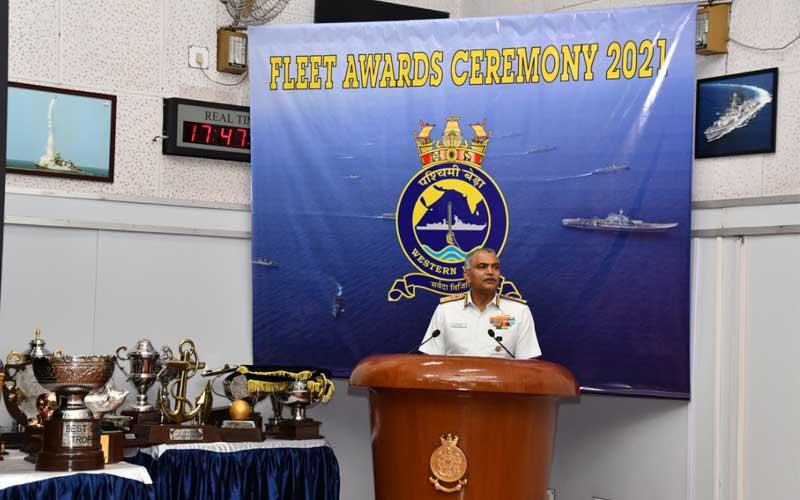 INS Kolkata was awarded the 'Best Ship'