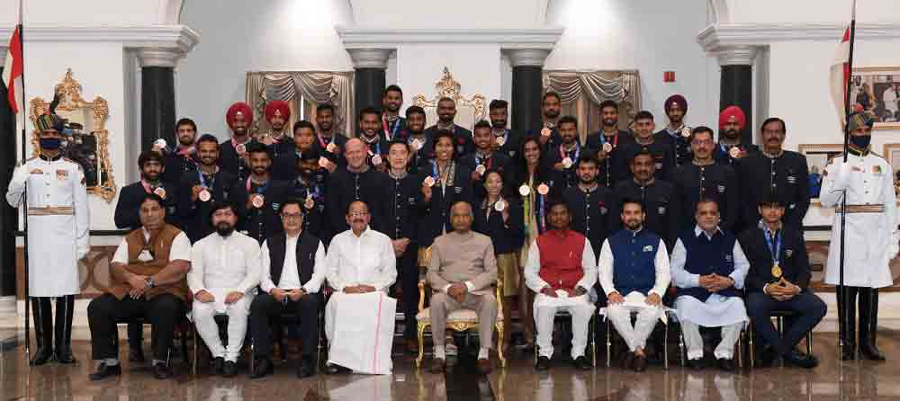 President Hosts 'Tea Party' for Indian Olympic Contingent And Said, Entire Country Is proud Of Them