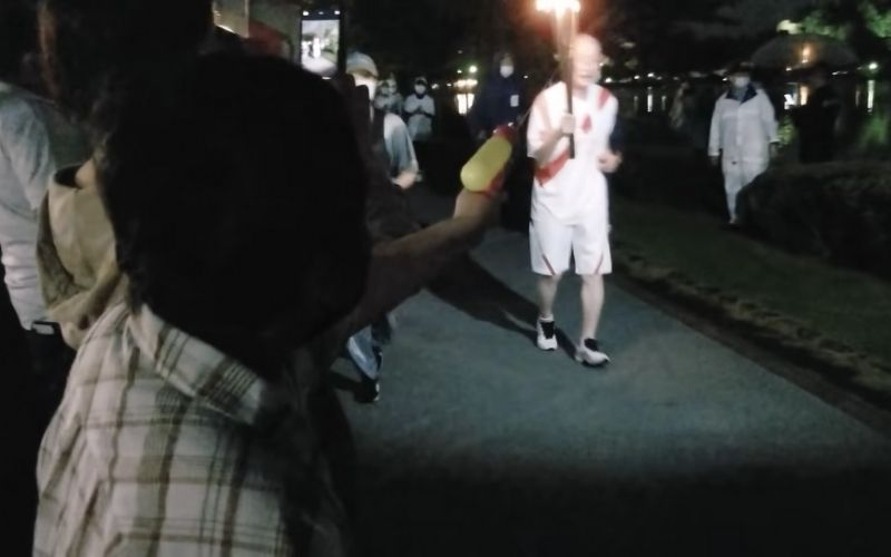Woman arrested after shooting the Olympic flame with a water gun: Japan