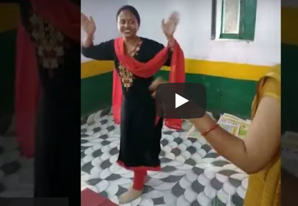 Watch Video - Teachers were suspended after a video of them dancing on Mainu Lehenga in the classroom which went online in UP