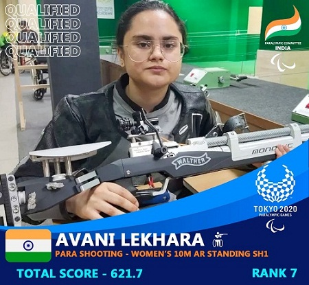 'Golden Girl' Shooter Avani Lekhara Will Be The Flagbearer Of The Indian contingent  In The Closing Ceremony