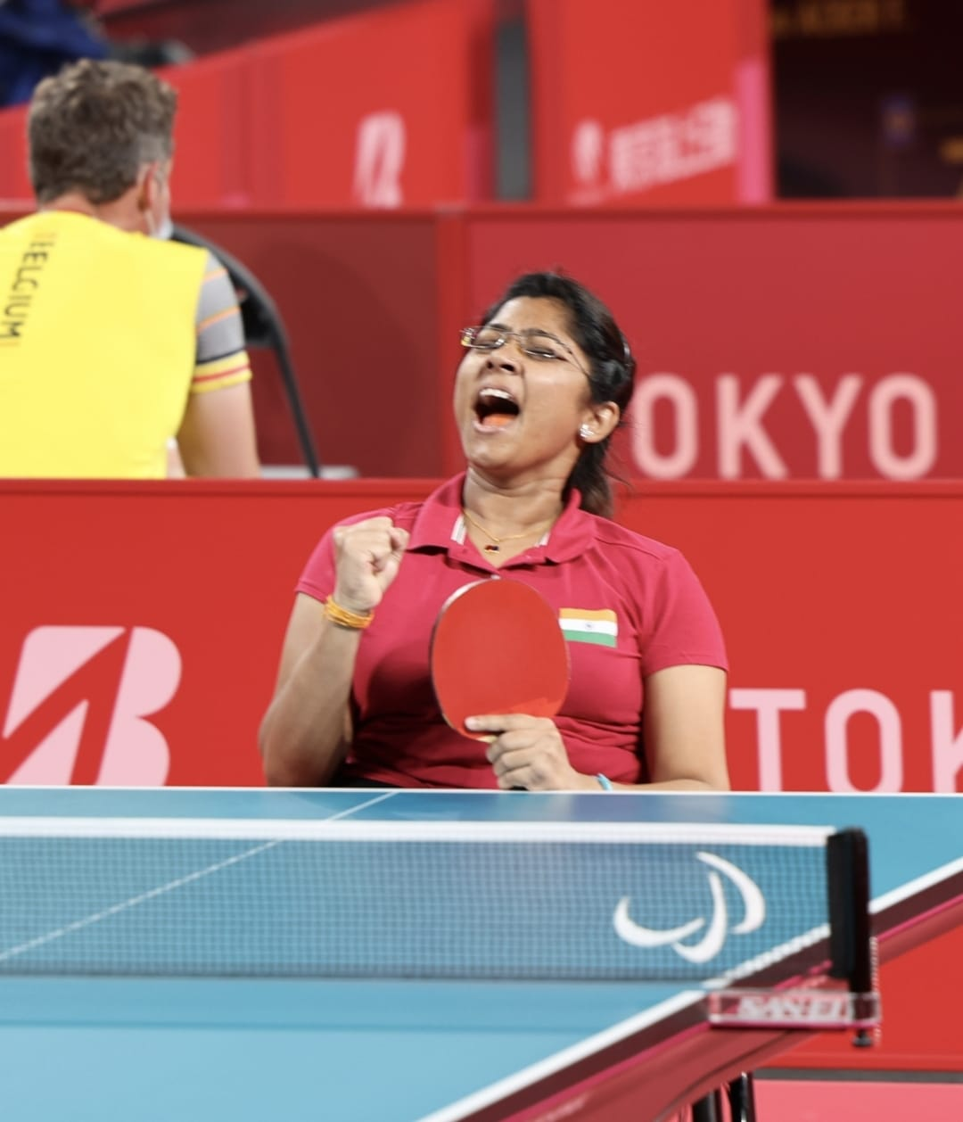 India's Bhavina Storms Into The Quarter Finals Of Women's Singles Table Tennis Event In Paralympics