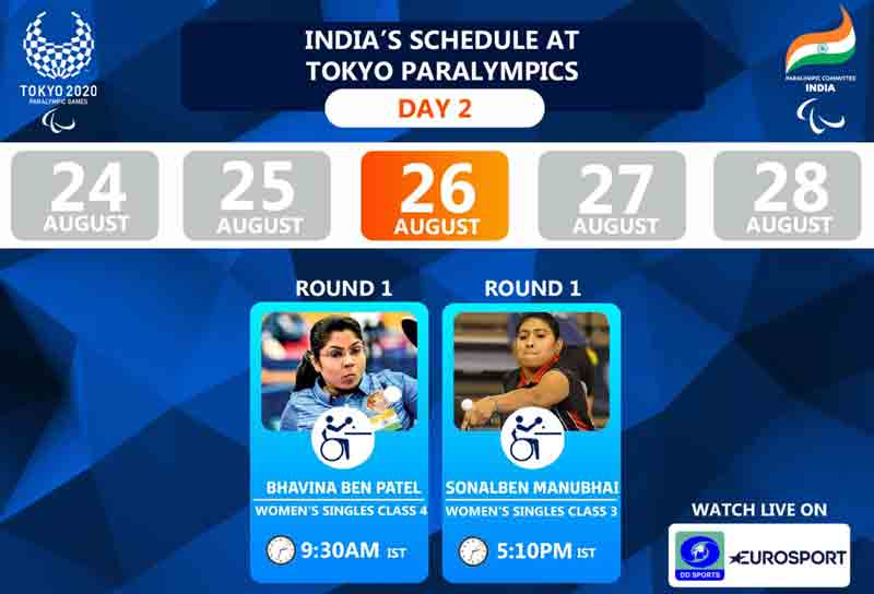 Sonal And Bhavina Loses Their first match In Table Tennis, Both Will Play Again On Thursday In Tokyo Paralympics