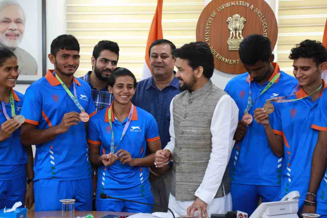 Sports Minister Felicitates World U20 Athletic Champions And Promises Full Support To Junior Athletes