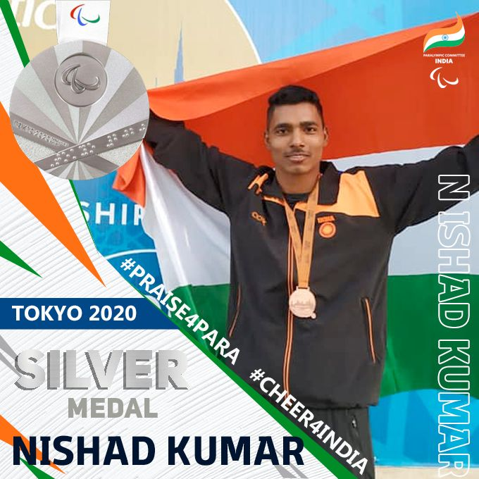 India's Nishad Kumar Jumps High To Win Silver Medal In Paralympics