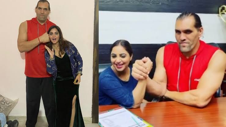 Arshi Khan breaks the internet again, this time by dancing with The Great Khali