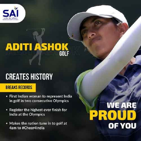 So Near And Yet So Far! Indian Golfer Aditi Ashok Misses Out On Bronze Narrowly By Just One Shot