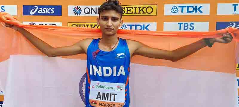 Walker Amit Wins Silver In 10,000 Meters Race walk Of The World Under-20 Athletics Championship