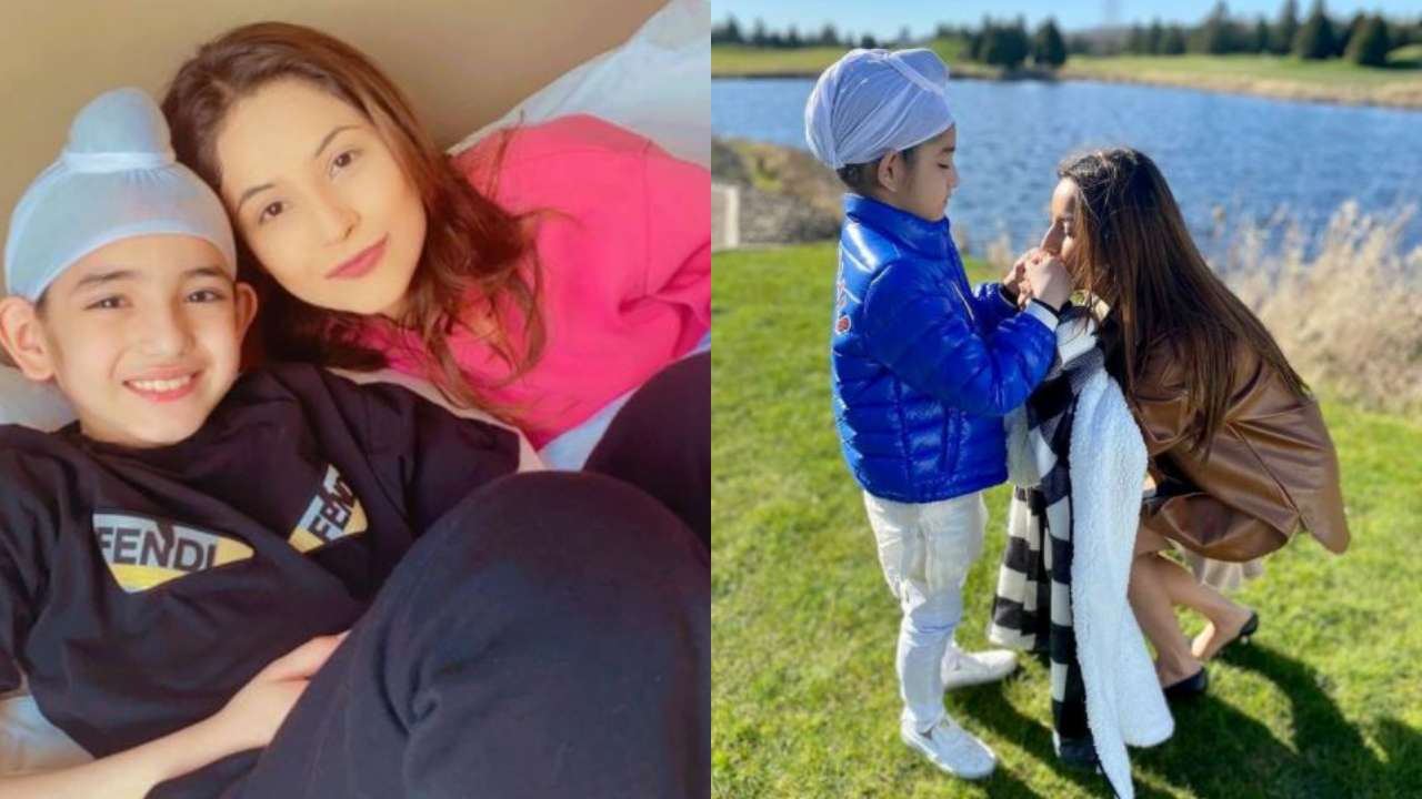 Shehnaaz Gill's unseen pictures with her on-screen son Shinda Grewal will melt your heart